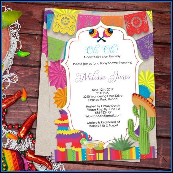 Fiesta Baby Shower Invitation Template