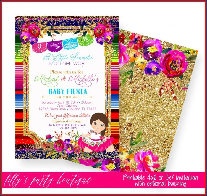 Fiesta Birthday Invitation Template Free