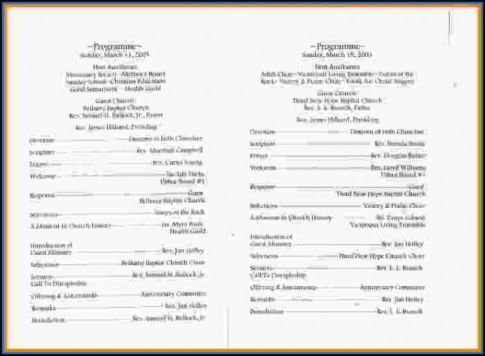 Free Church Program Template Design