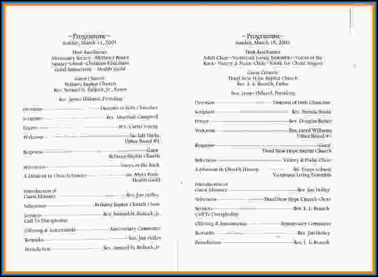 Free Church Program Template Design