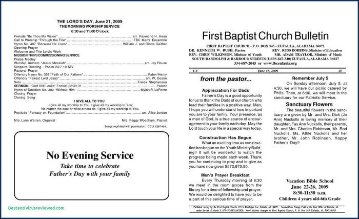 Free Church Program Templates Microsoft Publisher
