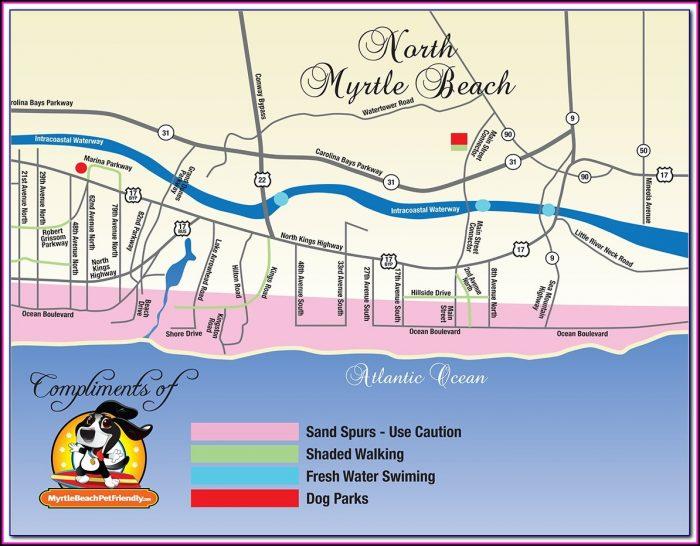Google Map Of Myrtle Beach Hotels