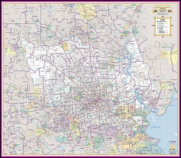 Harris County Wall Map