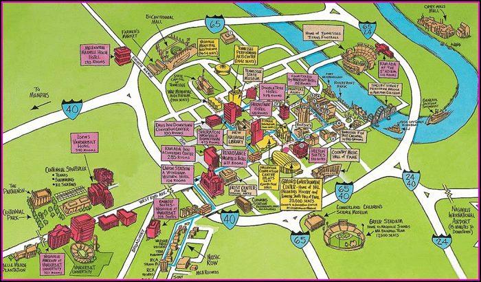 Hotels Downtown Nashville Map