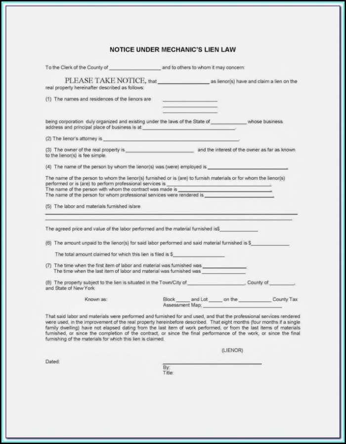 Il Mechanics Lien Form