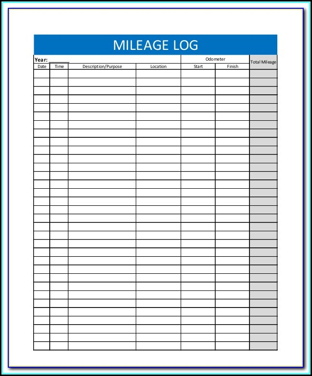 Irs Mileage Tracker Form