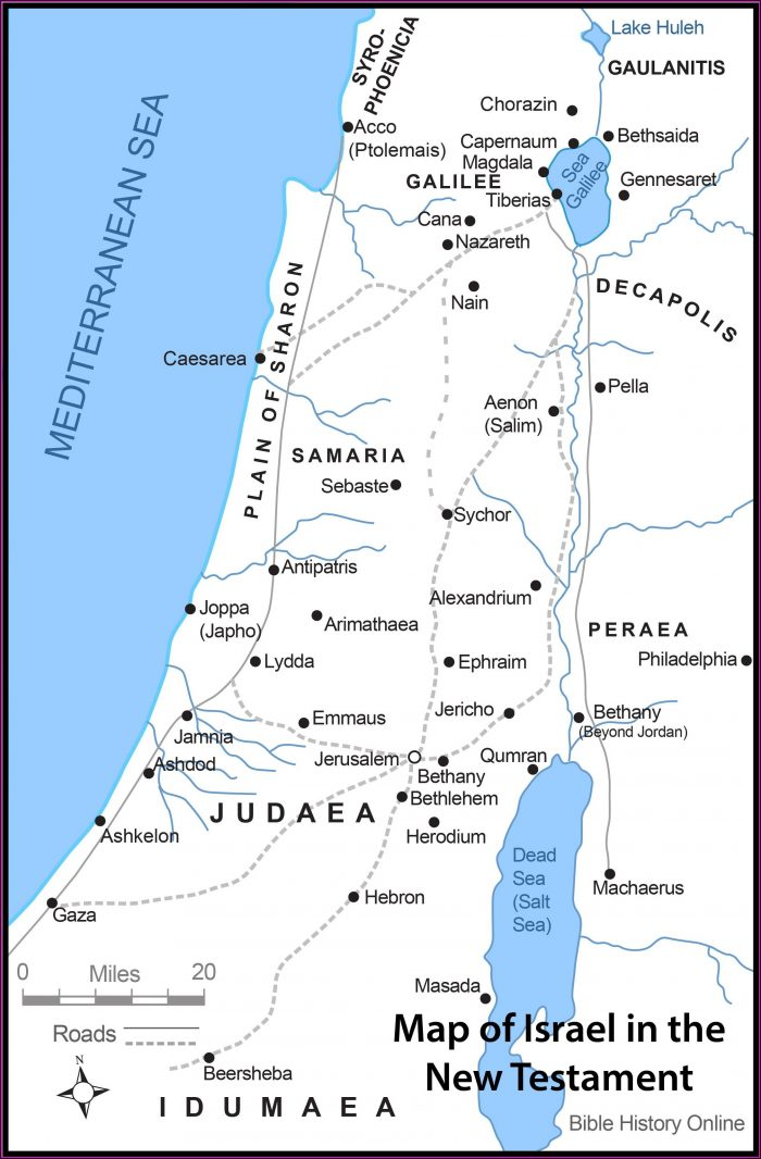 Israel Map Bible Times