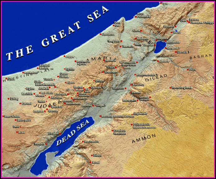Israel Map Biblical Times