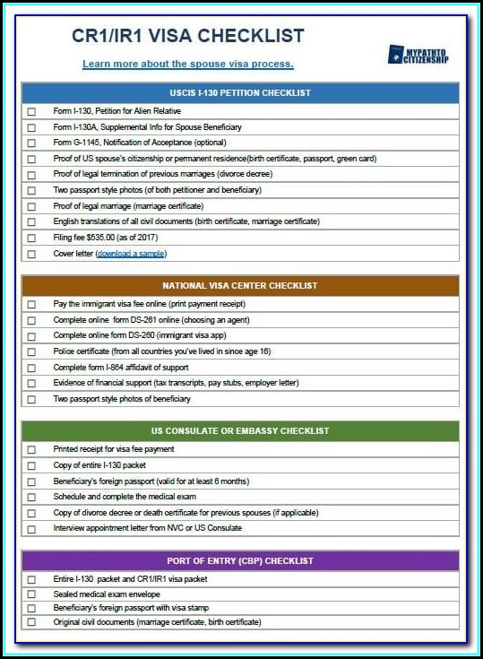 K1 Visa Application Form Sample