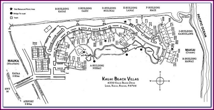 Kauai Beach Villas Site Map