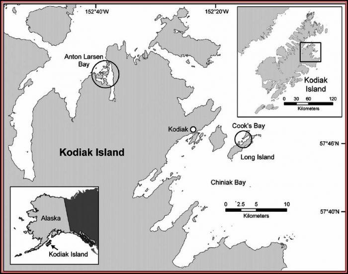 Map Of Alaska Showing Kodiak Island