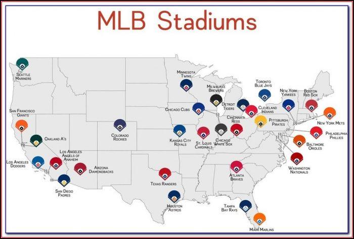Printable Map Of Mlb Stadiums - Map : Resume Examples #4Y8bGb016m