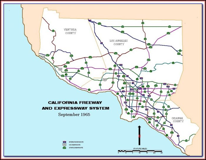 Map Of California 5 Fwy