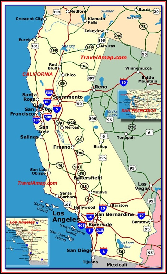 Map Of Central California Freeways