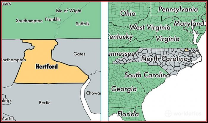 Map Of Hertford County Nc
