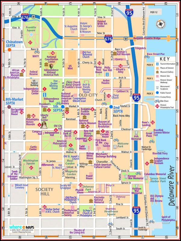 Map Of Historic Philadelphia Printable