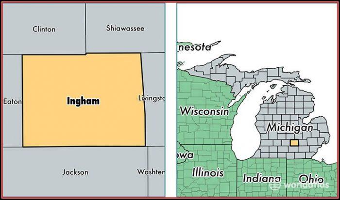 Map Of Ingham County Mi