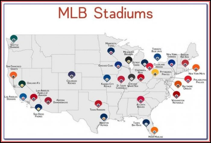 Map Of Mlb Stadiums In California