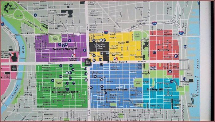 Map Of Philadelphia Center City