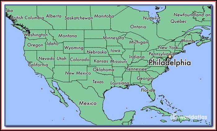 Map Of Philadelphia Usa