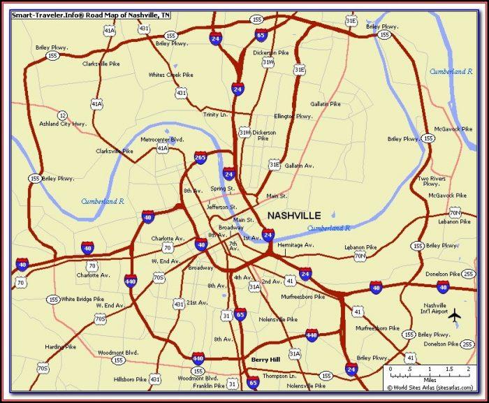 Maps Of Nashville Tn