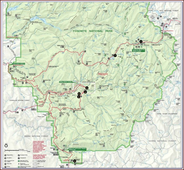 Maps Of Yosemite Hiking Trails