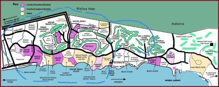 Maui Hotels Map Wailea