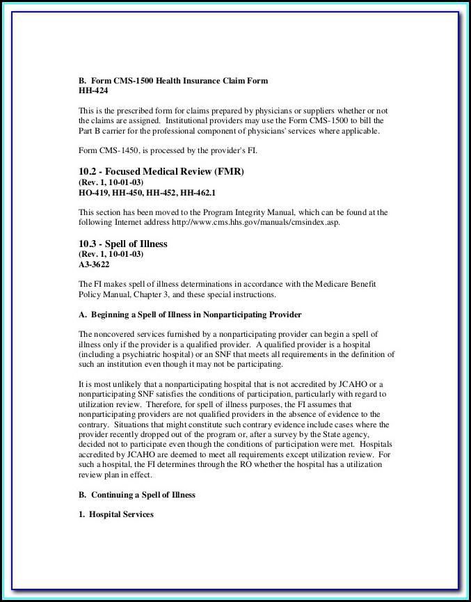Medicare Form Cms 1490s