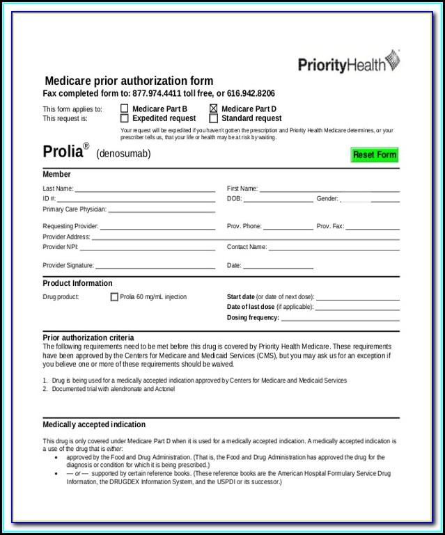 Medicare Pharmacy Prior Authorization Form