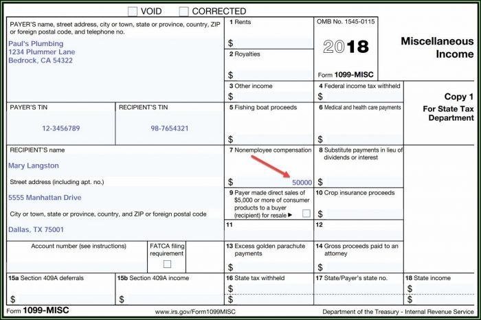 Microsoft Word 1099 Tax Form Printable Template