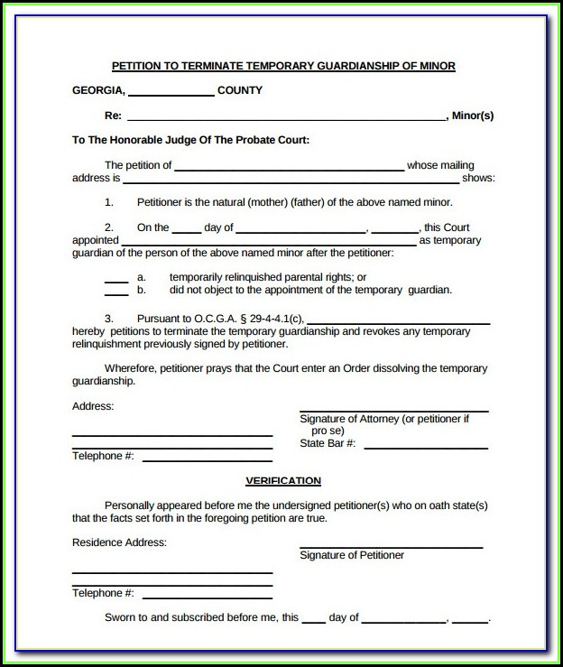 Oregon Guardianship Form Free