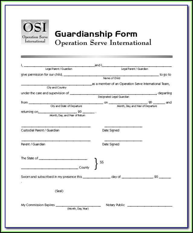 Pa Legal Guardianship Forms