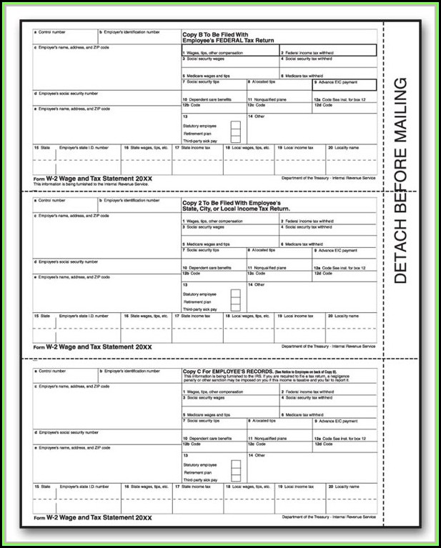 Printable W2 Form For New Employee