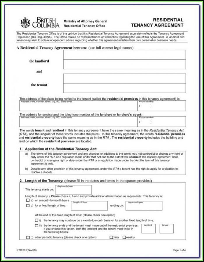 Rental Tenancy Forms