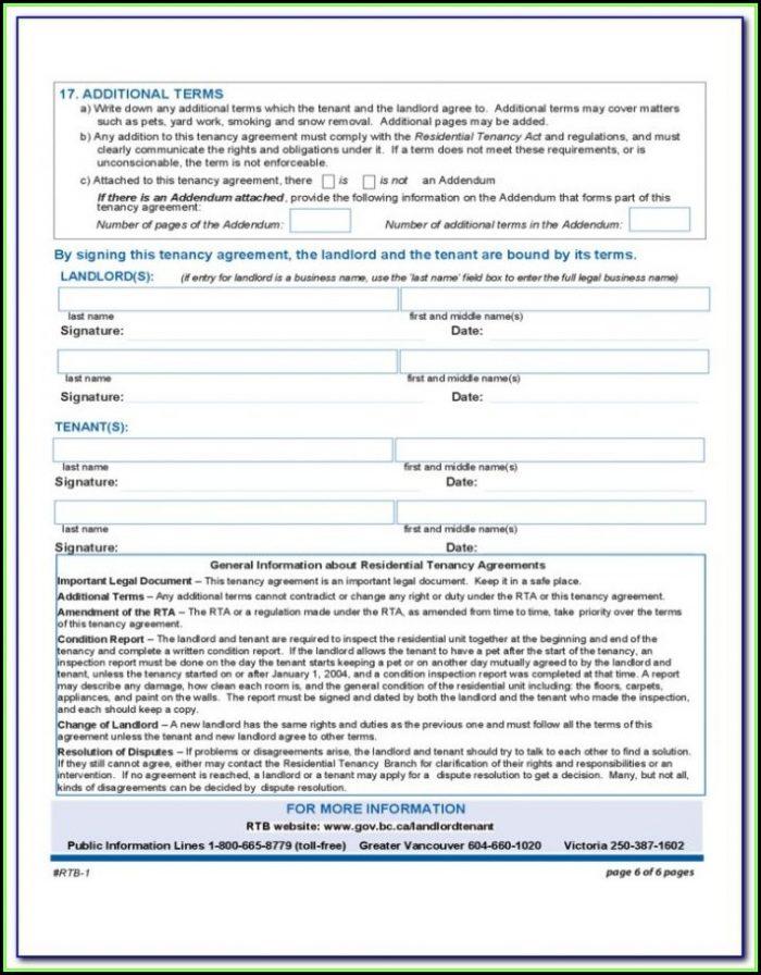 Rental Tenancy Forms Wa