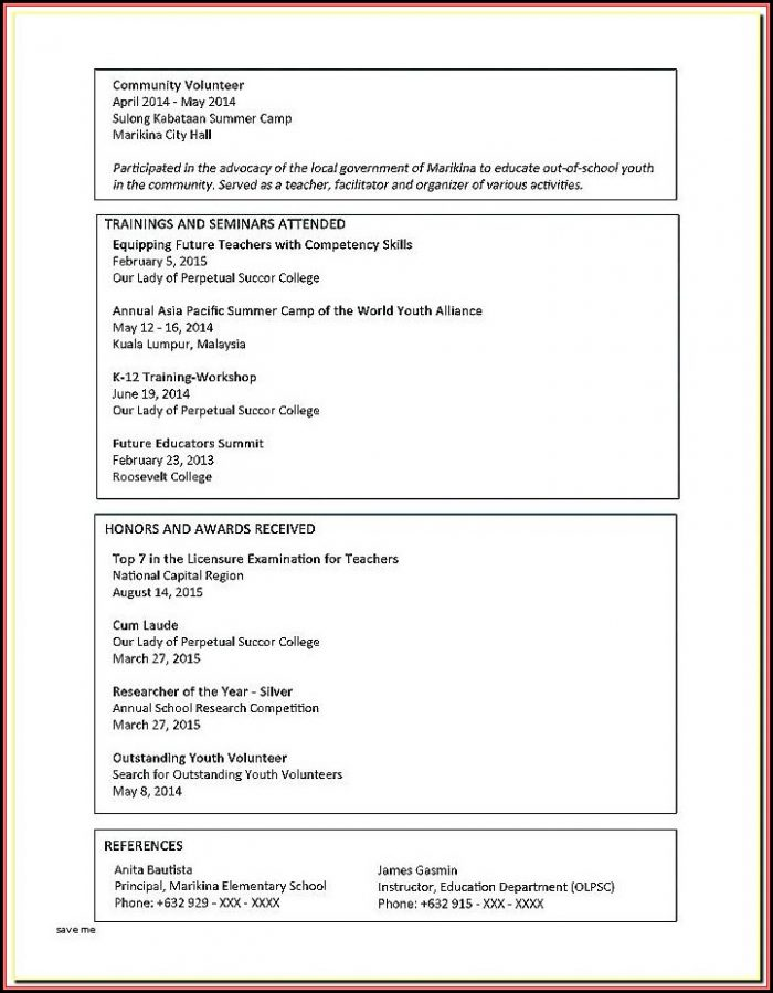 Resume Templates Microsoft Word 2013 Free Download