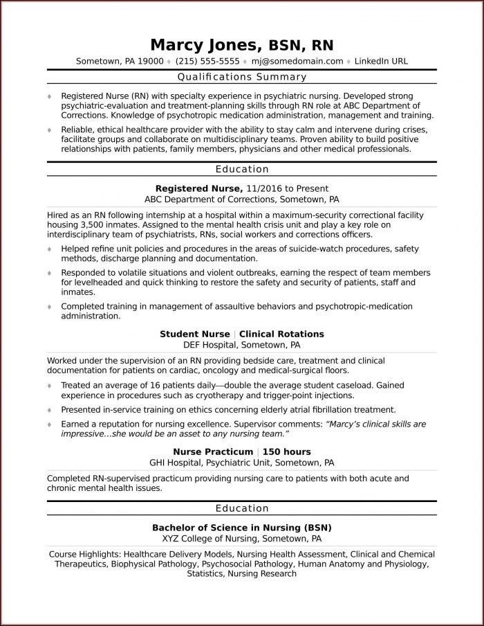Sample Resume For Rn