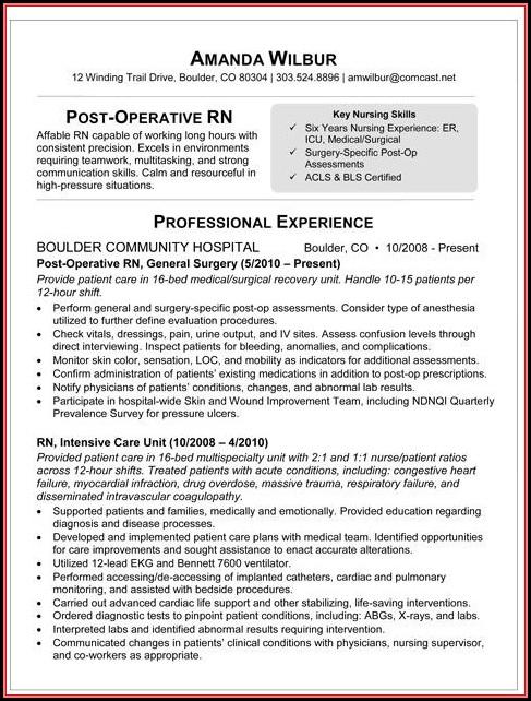 sample template resume 2018
