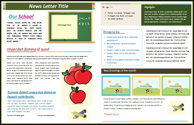 School Newsletter Templates Free Download