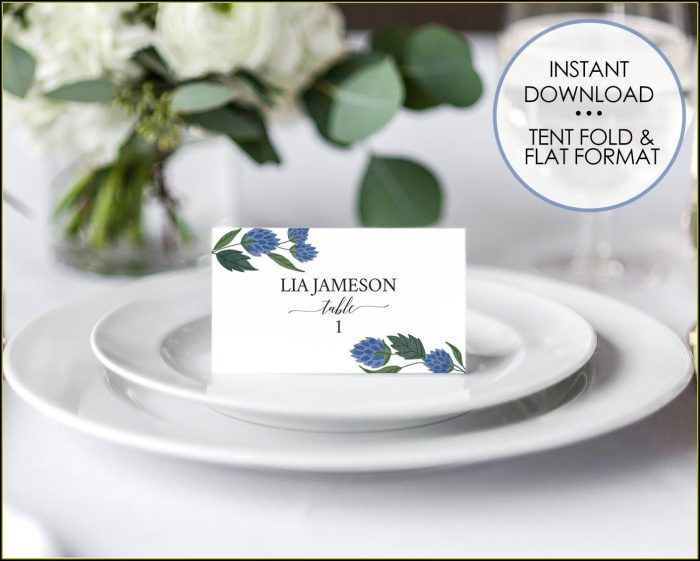 Seating Plan Name Cards Template