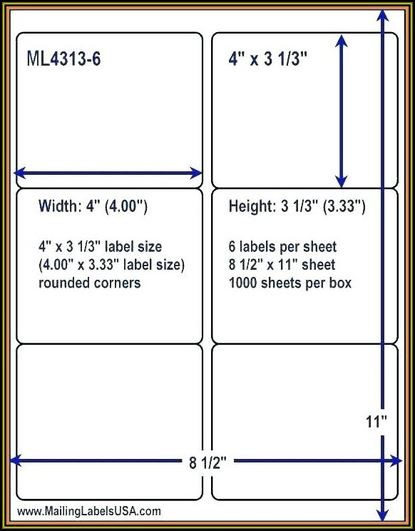 Shipping Label Template 2 X 4
