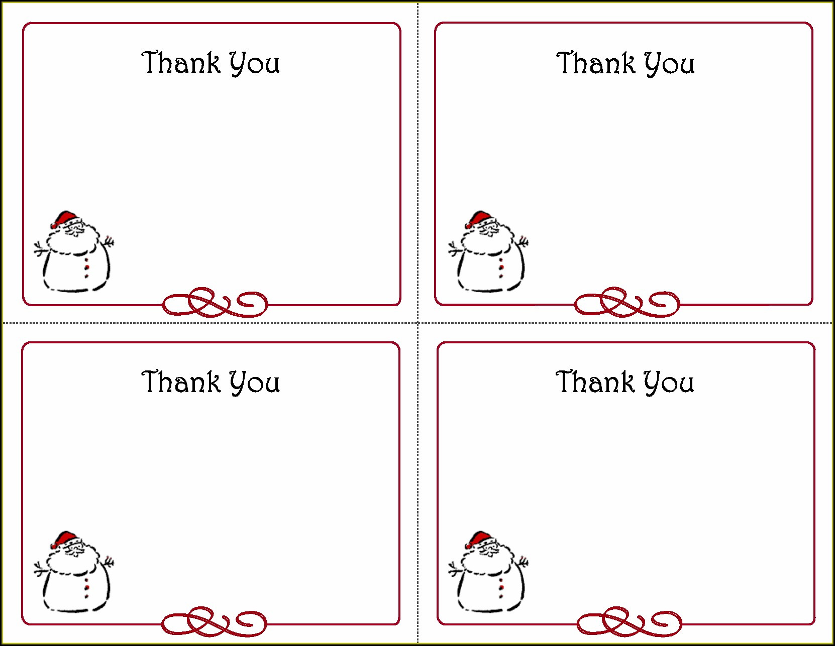 Thank You Postcard Template Word