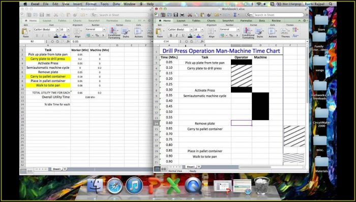 Time Motion Study Excel Template Xls