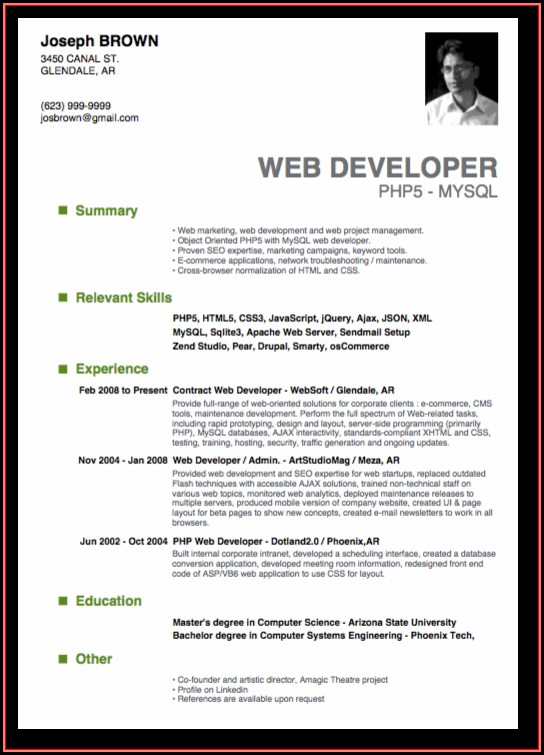 Top 10 Resume Templates Word