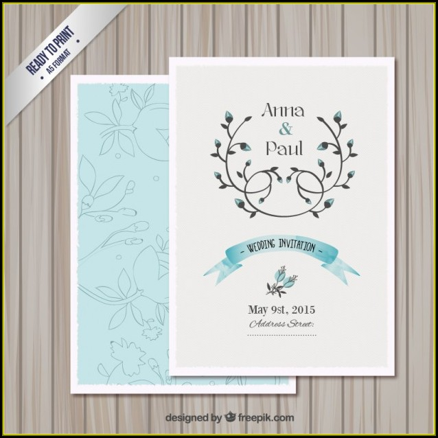 Wedding Card Invitation Template Free