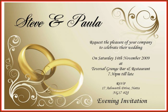 Wedding Card Invitation Template Online