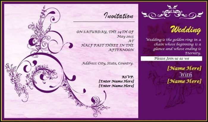 Wedding Card Invitation Templates