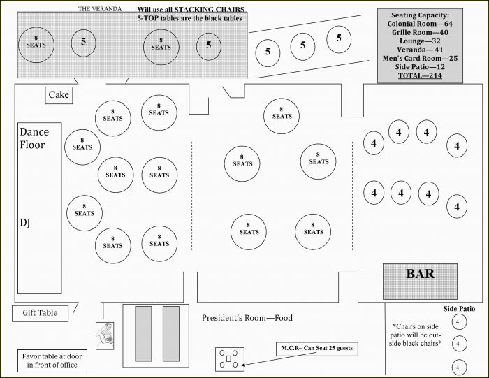 Wedding Floor Plan Template Free