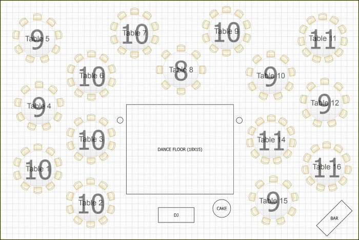Wedding Table Floor Plan Template