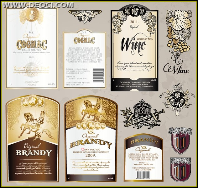 Wine Sticker Template